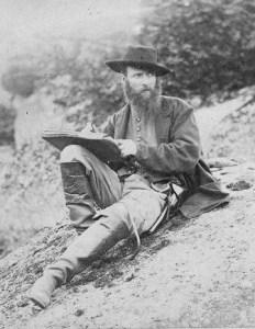 Alfred Waud at Gettysburg, 1863.