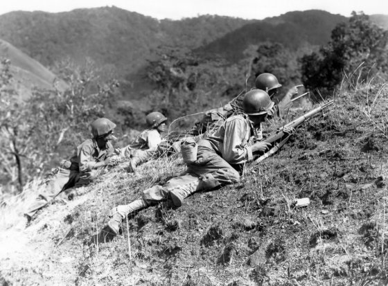 As American troops fought their way across Luzon, many feared that Japanese troops would slaughter civilian internees. (Image source: WikiCommons)