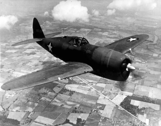 Hard to kill -- The P-47 made a large target but proved to be a durable opponent. (Image source: WikiCommons)