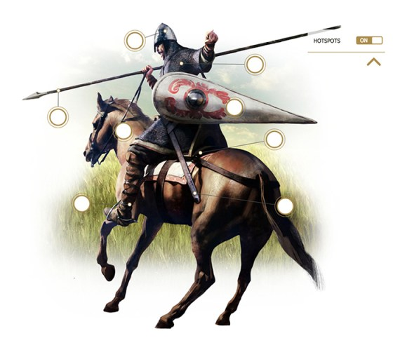 Click on the image for an interactive infographic on the arms and equipment of   Medieval knights from the app West Point History of Warfare.