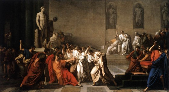 One of Julius Caesar's killers was Brutus, the son of his mistress. (Image WikiCommons)