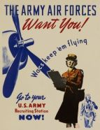 The Women's Army Air Corps borrowed Flagg's famous tagline. (Image source: WikiCommons)