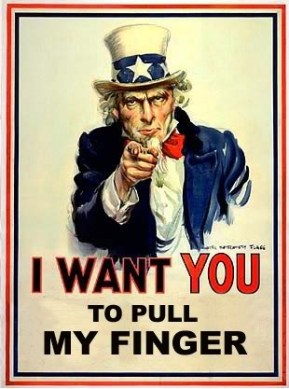 A latter day parody takes a light hearted dig at Uncle Sam.
