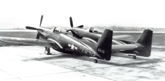 By 1953, F-82s were well past their prime and were soon phased out. (Image source: WikiCommons)