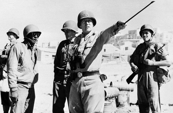 George Patton landed in hot water in 1943 for berating two soldiers suffering from what would today be considered PTSD. (Image source: Associated Press)