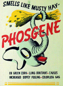 A Second World War poster warns of the dangers of Phosgene. (Image source: WikiCommons)