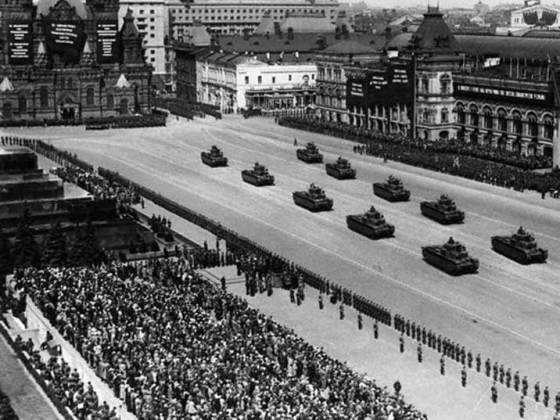 History remembers that the 1937-8 purge of the Red Army left the Soviet Union weakened on the eve of the Second Worlds War. (Image source: WikiCommons)