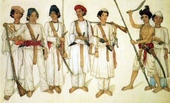 Nepalese Gurkha warriors of 1814. (Image source: WikiCommons)