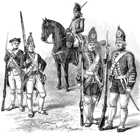 Hessian troops in the New World.