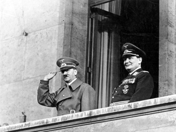 Hitler and Goering were convinced that a air campaign against the British capital would lead to victory. (Image source: WikiCommons)