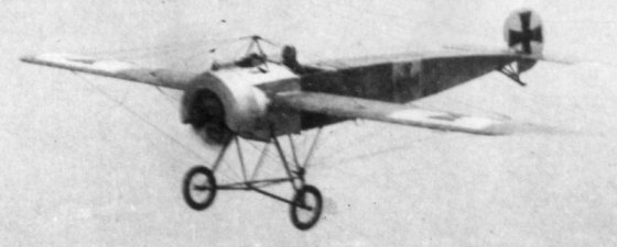 The Fokker Eindecker was Germany's first dedicated dogfighting aircraft. It caught British and French fliers off guard. (Image source: WikiCommons)