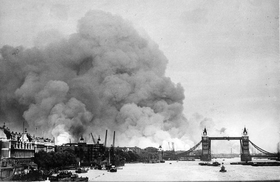 For more than eight months, London bore the brunt of Hitler's bombers. (Image source: WikiCommons)