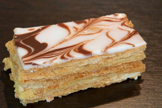 What's for dessert? Mille-feuilles, later known as Napoleon pastry was a favourite of Bonaparte. (Image source: WikiCommons)