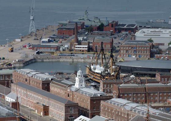 The historic Portsmouth dockyard will be home to a Jutland 100 exhibit in 2016. (Image source: WikiCommons)
