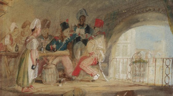 Soldiers drinking and fraternizing in a café. (Image source: Tate.org.uk)