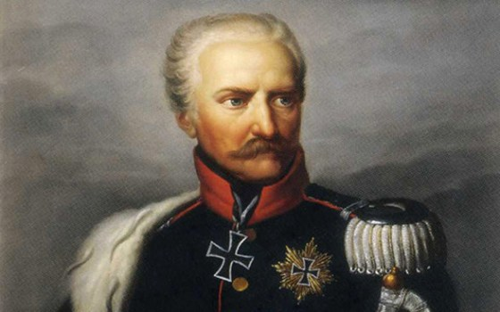 Marshal Blücher wears a Grand Cross and a Star Cross, two different versions of the Iron Cross. (Image source: WikiCommons)