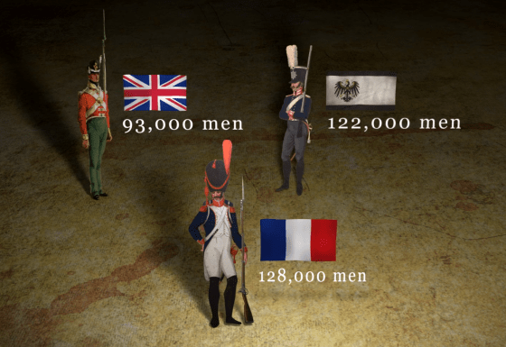 Opposing forces at Waterloo. (Image source: EpicHistoryTV.com)