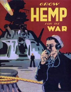 The U.S. government urged American farmers to grow hemp for the war effort. (Image source: Public Domain)