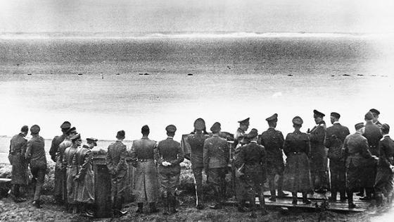 German generals gaze upon England's shores from Calais. (Image source: WikiCommons)