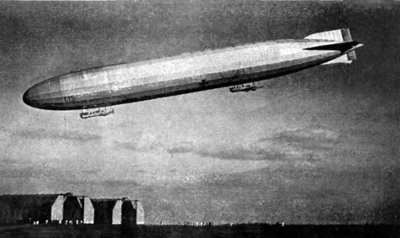 A World War One-era German Zeppelin. (Image source: WikiCommons)