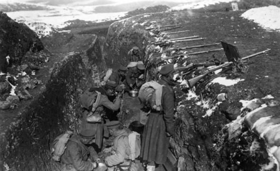 Standoff on the Salonika Front -- Britain and France expected the war-ending battle of WW1 to occur on the Western Front. Little attention was paid to the southern front until the final weeks of the war. (Image source: WikiCommons)