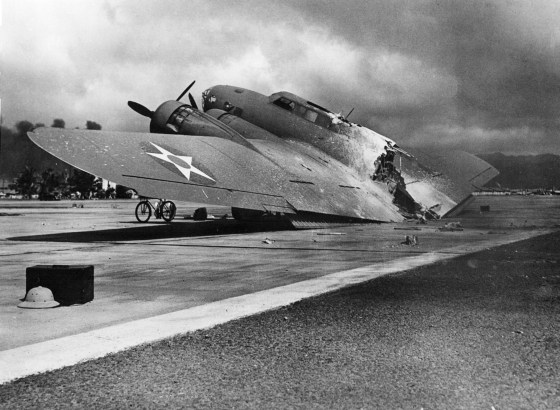 B-17C 40-2074 was one of the bombers trying to land at Hickam Field, Hawaii, during the Japanese attack on Pearl Harbor. (Image source: Air Force Association Collection)
