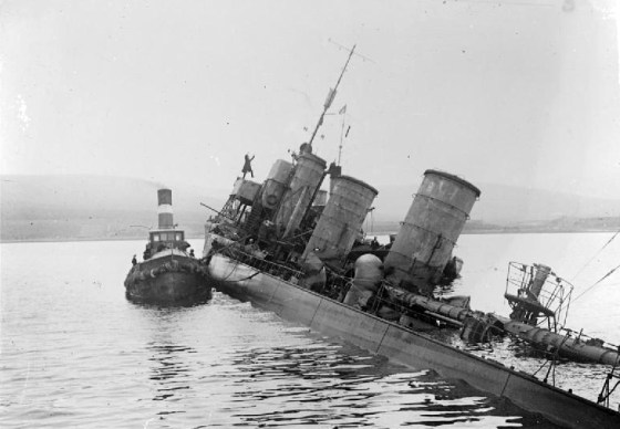 Last Act of Defiance – German Admiral Brazenly Scuttles Own Fleet in British Waters