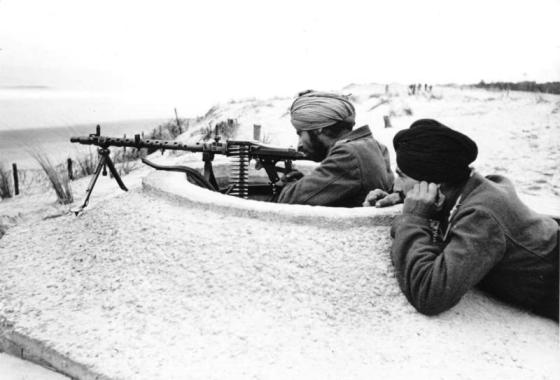 Indian volunteers on the Atlantic Wall. France, 1944. (Image Source: German Federal Archive via WikiCommons)