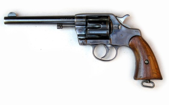 A Colt revolver similar to the one Roosevelt carried up San Juan Hill. (Image source: WikiCommons)