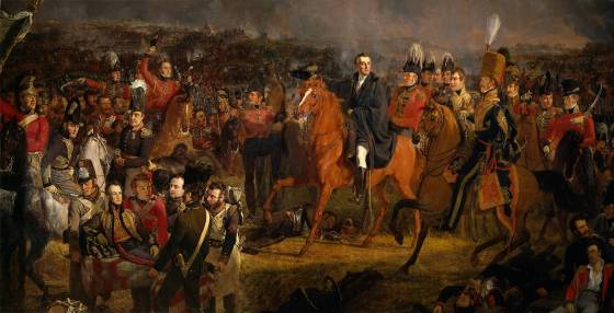 Man of the Hour -- Wellington basks in the triumph of his victorious army. British soldiers made up a fraction of the allied forces that took part in the battle.