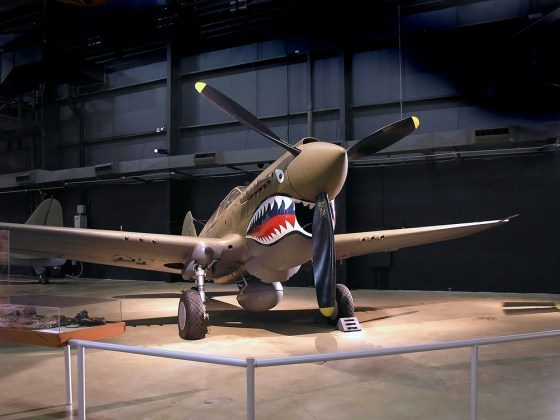 The Flying Tigers make the Curtis P-40 Warhawk famous. (Image source: WikiCommons)