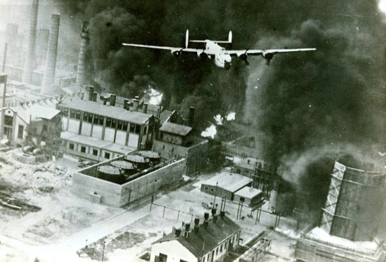 Of the 177 planes struck the Axis oil refineries at Ploesti, Romania on Aug. 1, 1943, 53 were blown out of the sky. (Image source: WikiCommons)