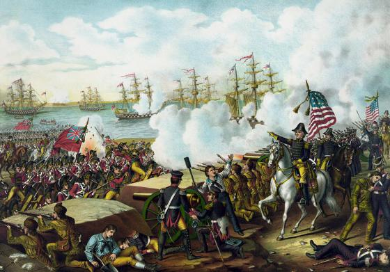 The Battle of New Orleans -- one of the more memorable moments of the War of 1812. (Image source: WikiCommons)