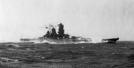 Mighty Japanese battleships like the Yamato were rendered ineffective by a shortage of fuel. (Image source: WikiCommons)
