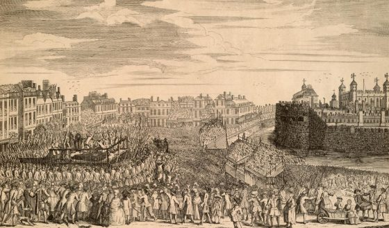 The beheading of the rebel Scottish leaders. (Image source: WikiCommons)