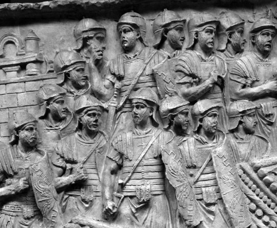 According to legend, the Theban Legion refused to massacre Christians in the 3rd Century. The entire unit was put to death and its leader, Maurice, would become a saint. (Image source: www.trajans-column.org/)
