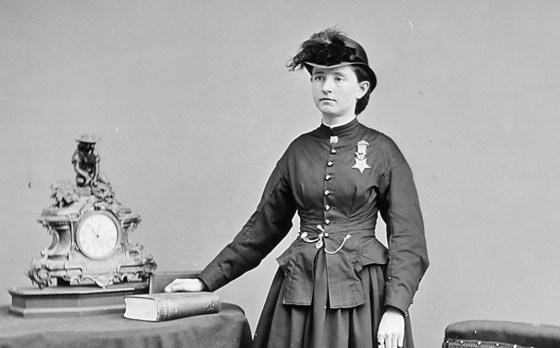 Mary Edwards Walker proudly wears her Medal of Honor. (Image source: WikiCommons)