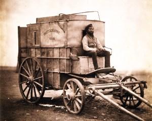 Roger Fenton's mobile photo studio. (Image source: WikiCommons)