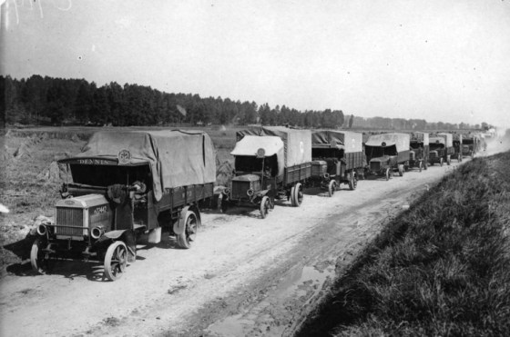 As the First World War continued, armies became increasingly reliant on gas-powered vehicles. (Image source: WikiCommons)