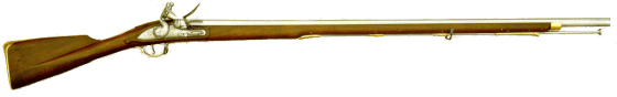 Royal Marines were equipped with modified variants of the Brown Bess smoothbore musket. (image source: WikiCommons)