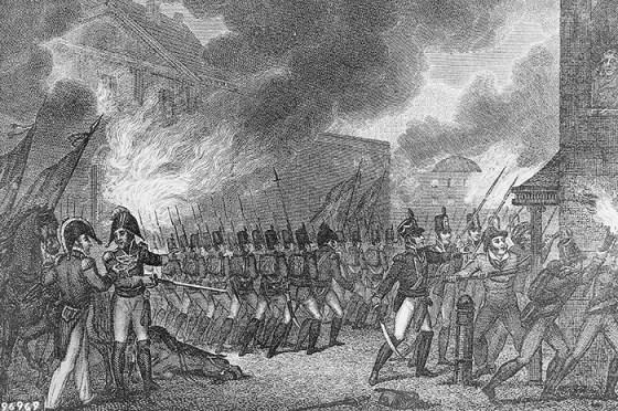When British redcoats stormed Washington D.C., Royal Marines were among them. (Image source: WikiCommons)