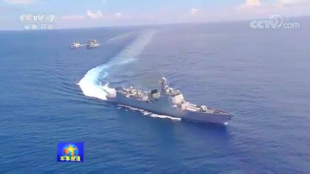 Chinese Navy holds Assault & Defensive Live Firing Training in Indian Ocean
