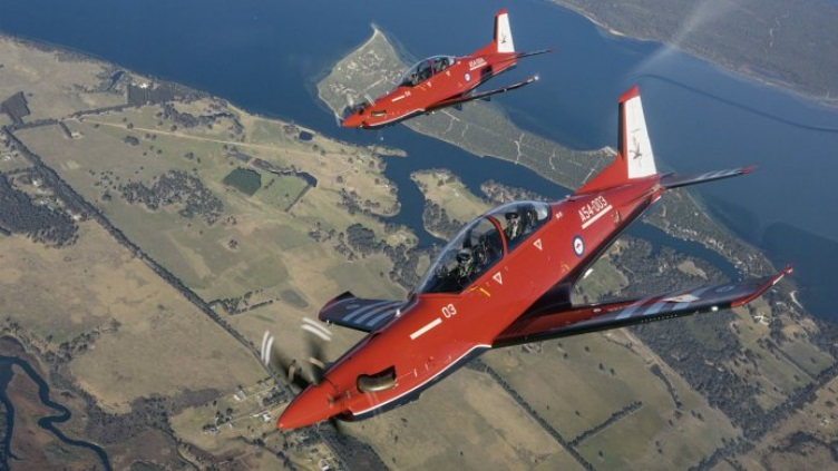 RAAF marks maiden in-service flight of the Pilatus PC-21 trainer