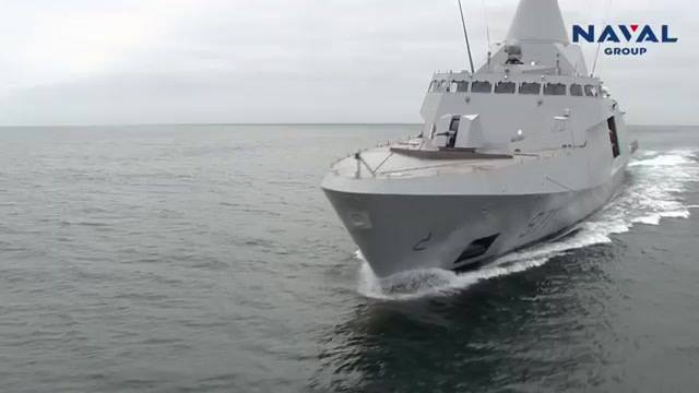 Naval Group Delivers the 1st Gowind 2500 Corvette to the Egyptian Navy