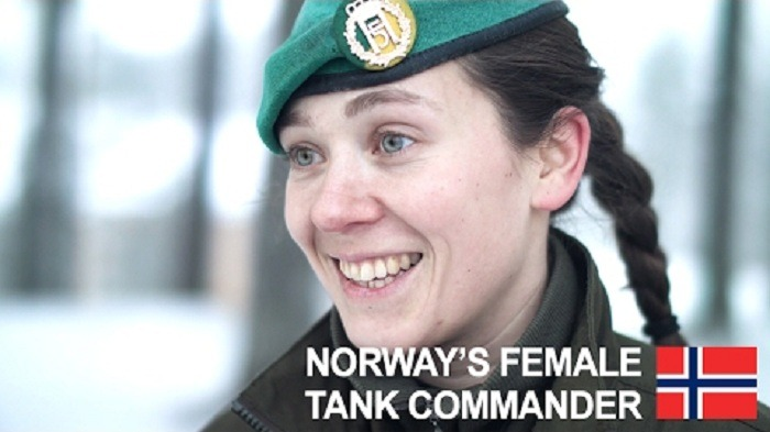 Norway's Female Tank Commander - Lieutenant Willassen