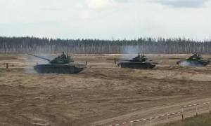 Russian Army T-72B3 Live-Fire Training