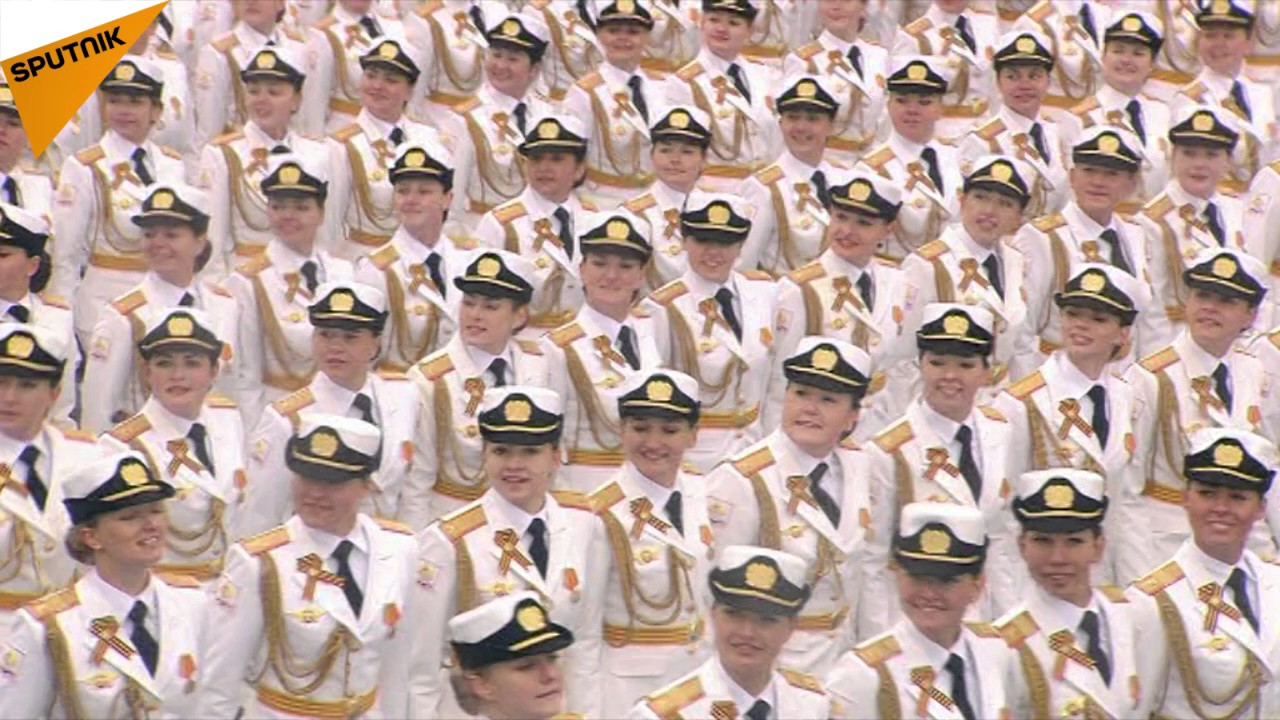 Female Soldiers Participate in the 2017 Moscow Victory Day Parade