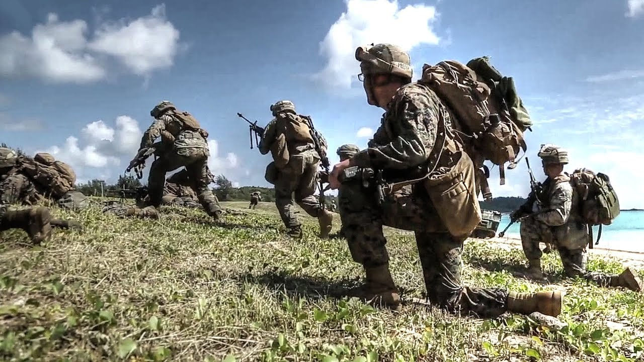 Simulated Amphibious Assault On Okinawa, Japan