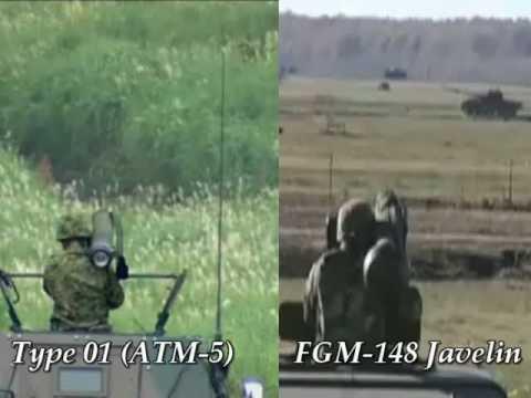 LMAT vs FGM-148 Javelin ATGM missile launch blast comparison