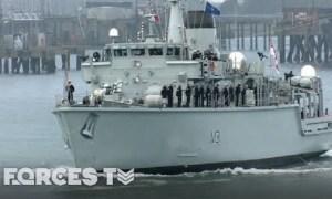 Royal Navy's Minehunter Sets Sail For NATO's Eastern Border